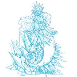 Calcite mermaid