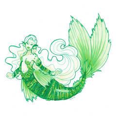 Malachite mermaid