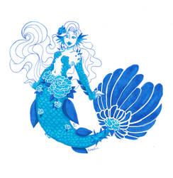Azurite mermaid