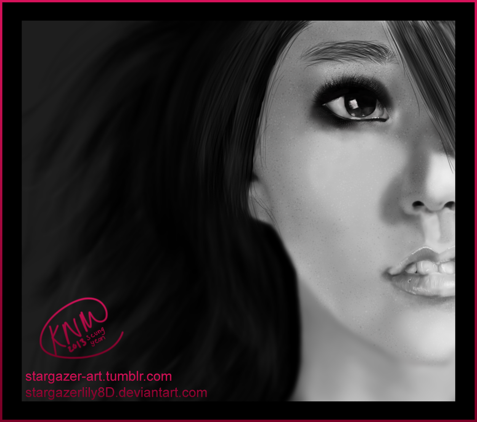 Han Seung Yeon Digital Portrait Drawing by stargazerlily8D