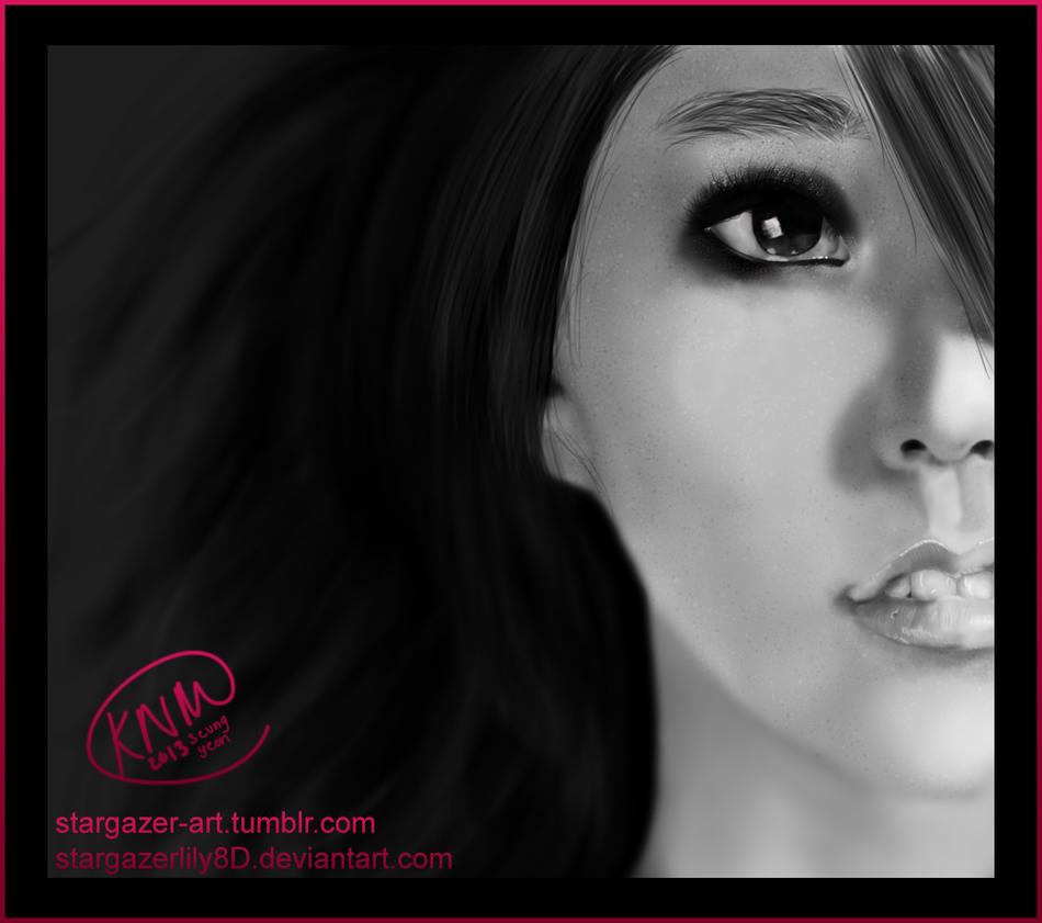 Han Seung Yeon Digital Portrait Drawing by stargazerlily8D