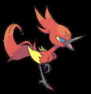 Fire roadrunner Monster