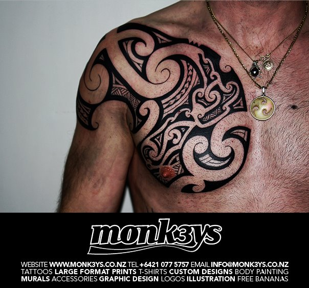 nz chest plate 1 by monk3ys tattoos on deviantart. Black Bedroom Furniture Sets. Home Design Ideas