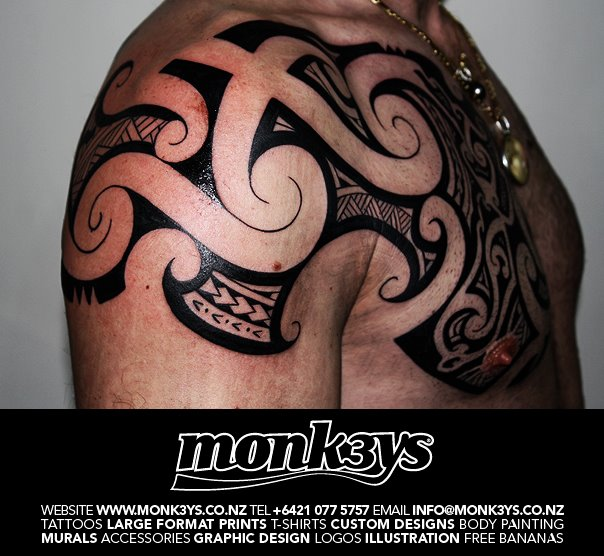 Nz chest plate 2 by monk3ys tattoos on deviantart for Chest plate tattoos