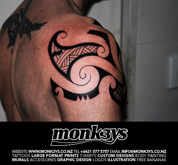 Nz chest plate 3 by monk3ys tattoos on deviantart for Chest plate tattoos