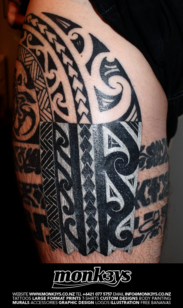 Maori Tattoo Cover Up: Maori White On Black Cover Up By Monk3ys-Tattoos On DeviantArt