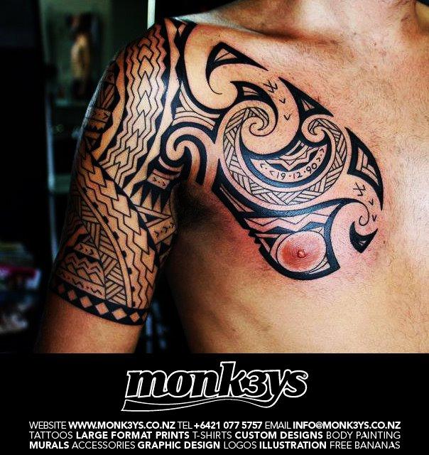 Polynesian / Maori Half Sleeve And Chest Plate 1 By