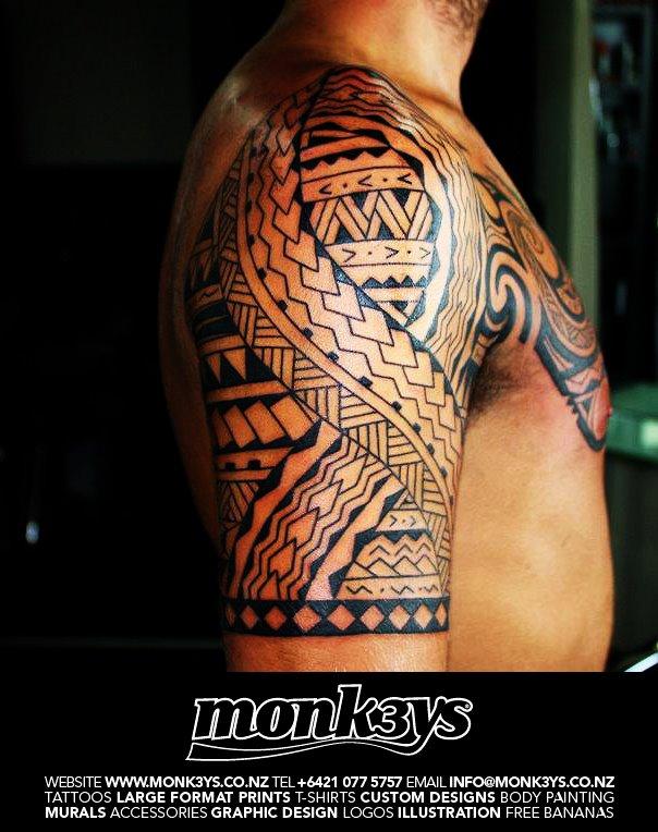 maori polynesian sleeve tattoo designs. Black Bedroom Furniture Sets. Home Design Ideas