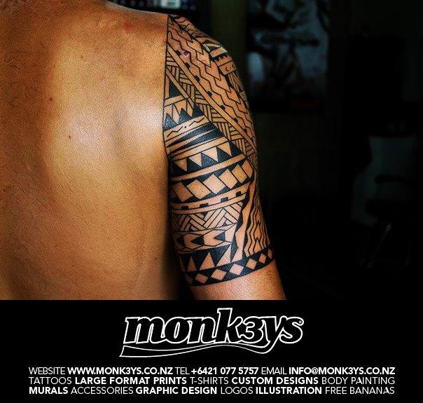 Polynesian / Maori Half Sleeve And Chest Plate 4 By