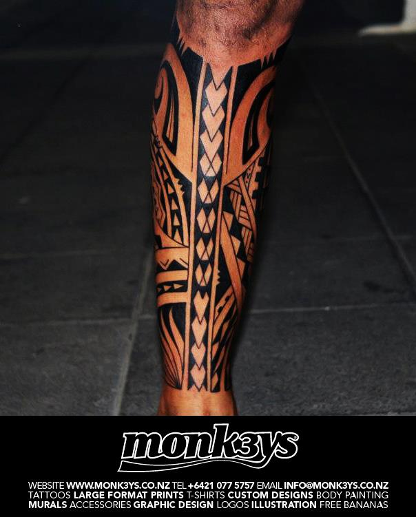Polynesian Tribal Wallpaper: Polynesian Tribal Full Calf 2 By Monk3ys-Tattoos On DeviantArt