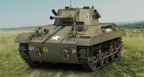 M22 Locust Airborne tank by sandu61