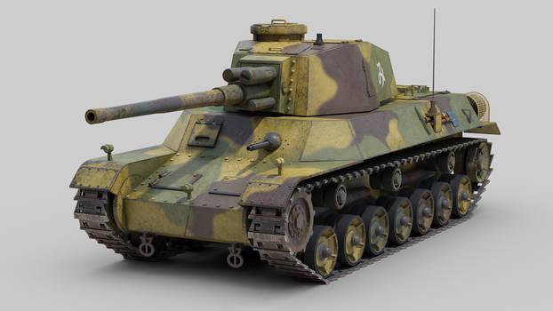 Type 4 Chi To WW2 Japanese tank