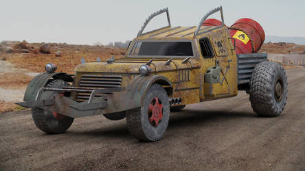 Post apocalyptic Hot Rod concept