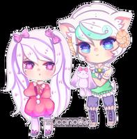 Cino and Koko by Raiyure