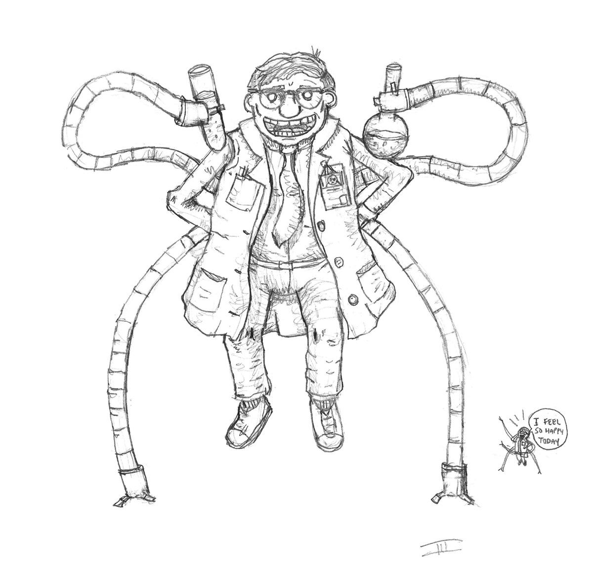 A Happy, Not Bad, Dr. Octopus by Gargantuan-Media