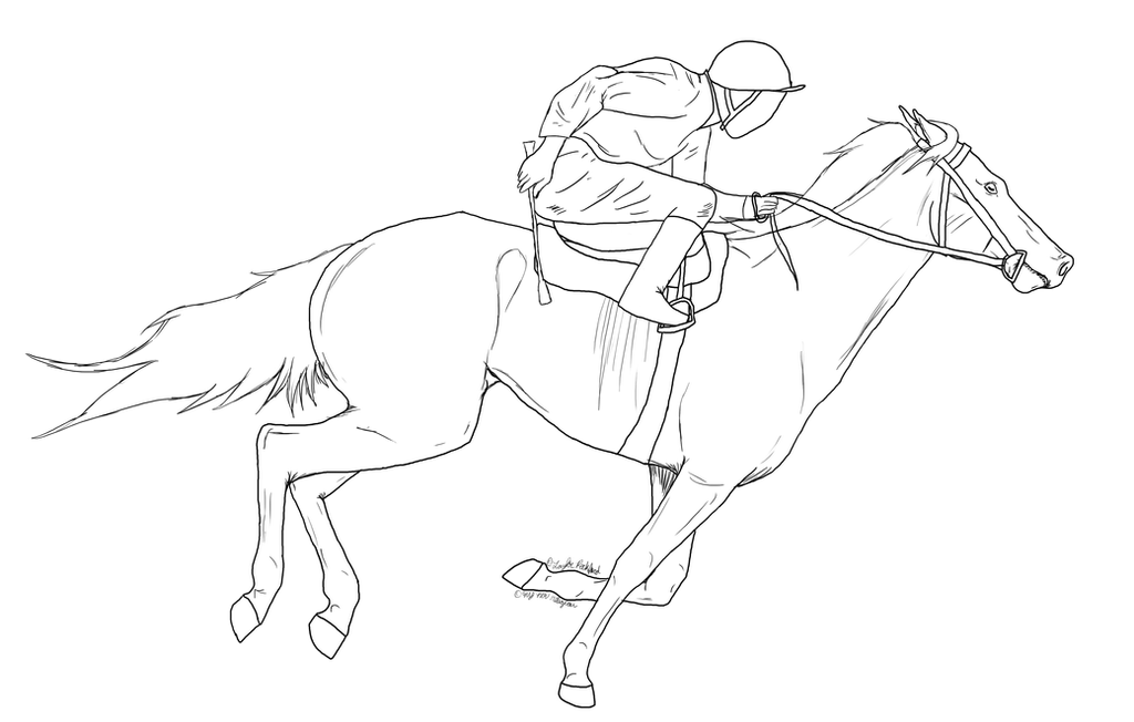 thoroughbred coloring pages - photo#15