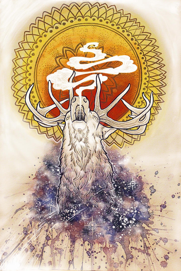 Galaxy of the White Stag by n1cKYveysey