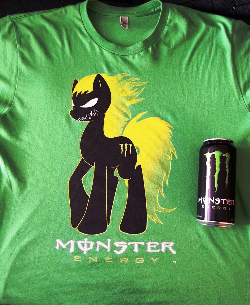 Monster Energy Pony T-Shirt by JustinSaneV2