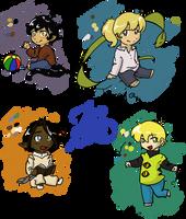 Broken Wall characters II by Keali