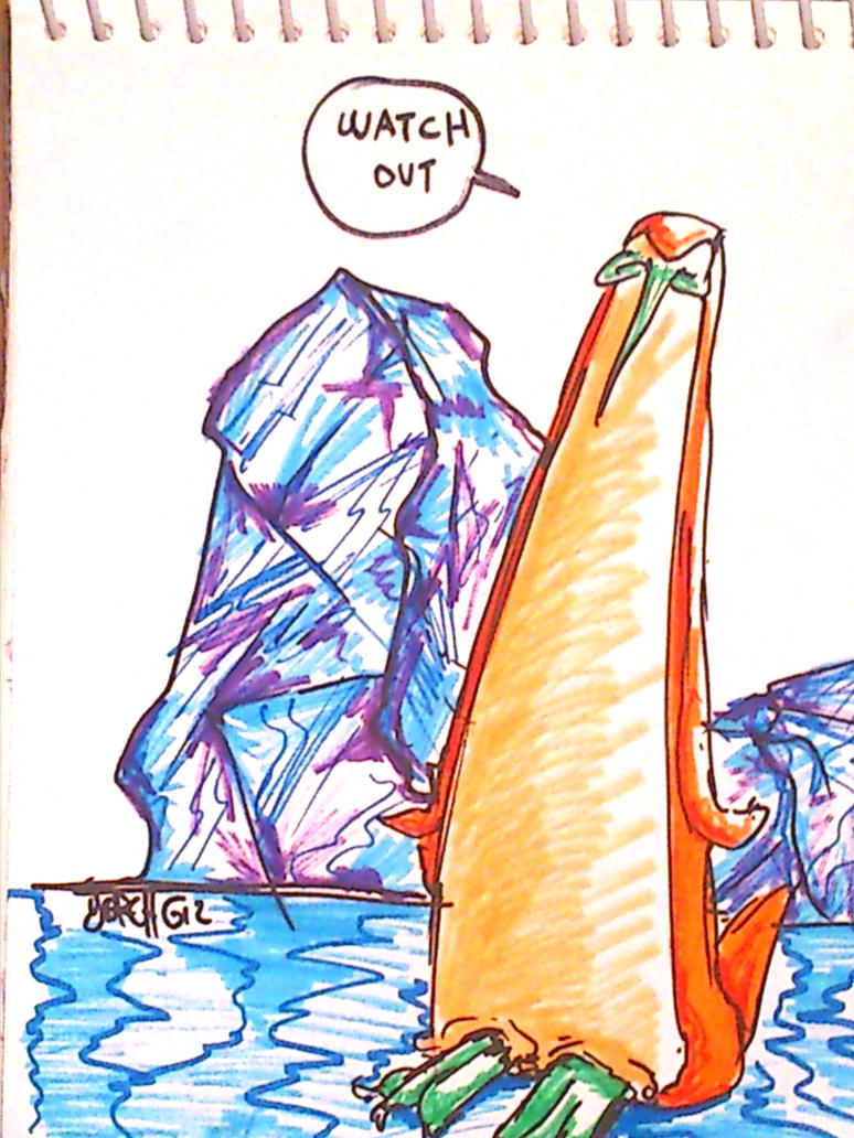 Pinguino con dierisis en la u, en el hielo by Yorch0