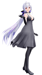 TDA Haku Black Dress [DL] by canza52
