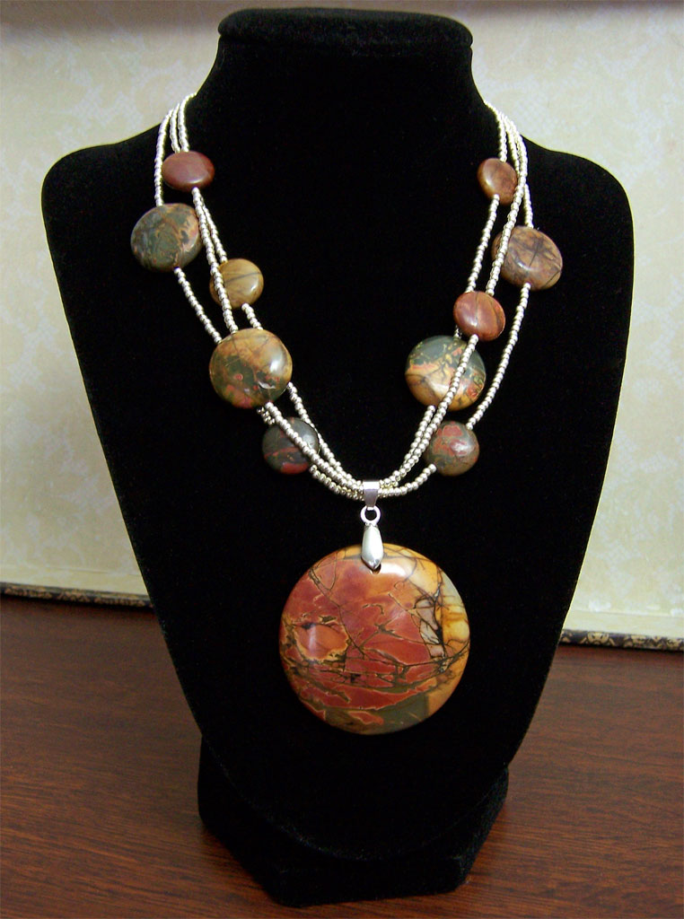 Red Creek Jasper necklace by asukouenn