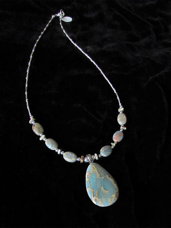 Aqua terra jasper necklace by asukouenn