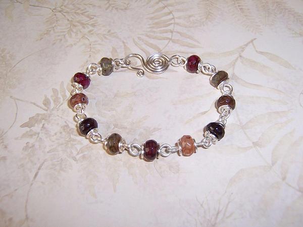 Tourmaline silver bracelet by asukouenn