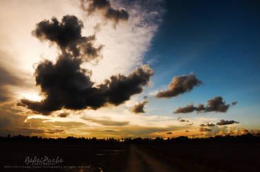 My Village Sunset by badaipurba