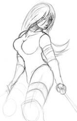 Sketchbook Pro: Psylocke by sheppyboy2000