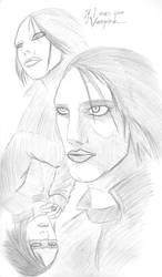 Quick Sketch 1: Marilyn Manson by sheppyboy2000