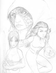 Quick Sketch 4: Psylocke by sheppyboy2000