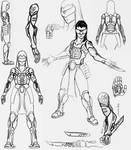 Blind Cyberpunk Samurai