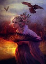 Twilight lake by vinegar