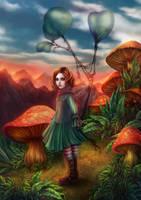 Mushroom Hideout by vinegar
