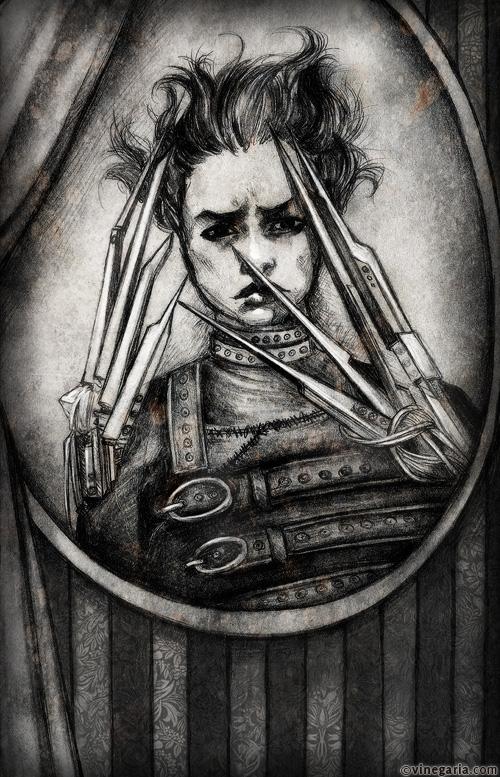 Edward Scissorhands by vinegar