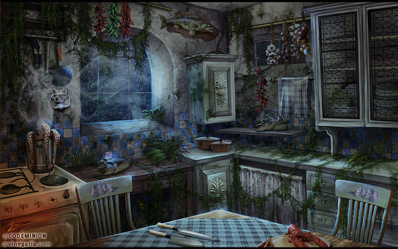 Phantasmat CA. Kitchen. by vinegar