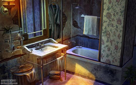 Phantasmat CA. Bathroom by vinegar