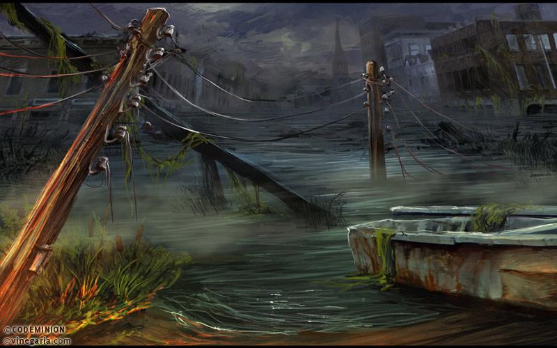 Phantasmat CA. Lake by vinegar