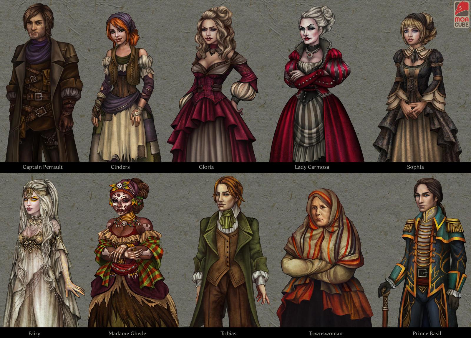 Cinders - characters by vinegar