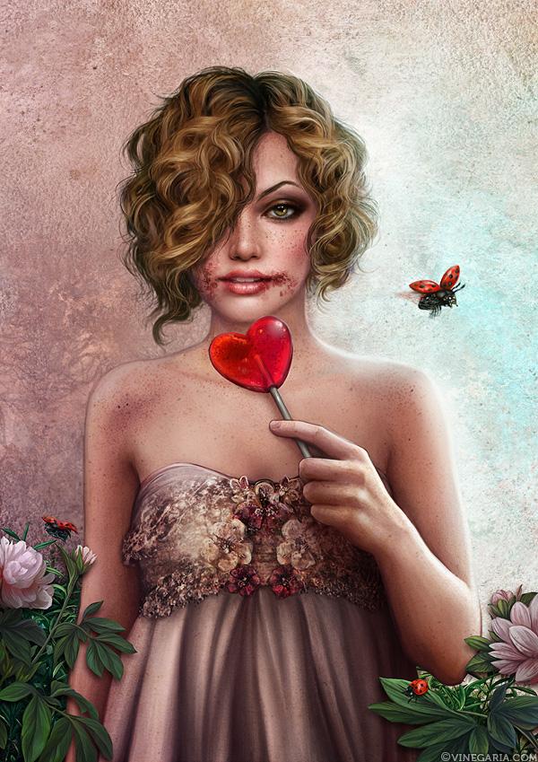 Ladybug's Heart by vinegar