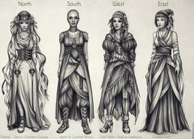 Costumes: North, South, West, East