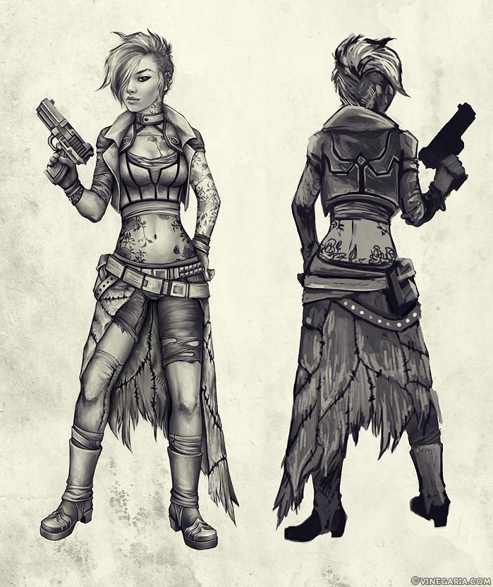 Cyberpunk Character Design WIP By Vinegar On DeviantArt