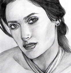Salma Hayek by vinegar