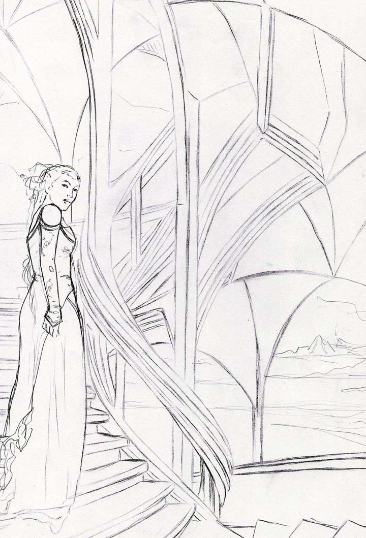 a pencil sketch for new wip by vinegar
