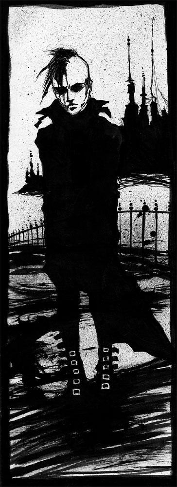 blind street guy. by vinegar