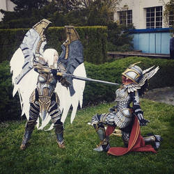 Uriel with paladin