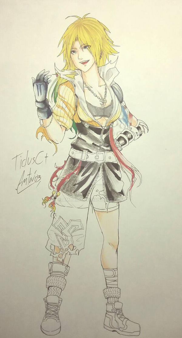 Dissidia Tidus  (Female+Not finish+give up) by Amtai03