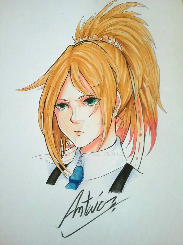 Practice 1 : School girl (Head) by Amtai03