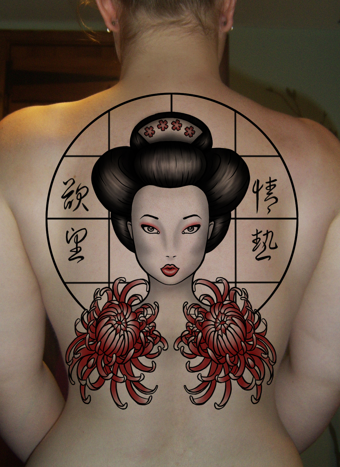 Geisha Tattoogrefrgefg